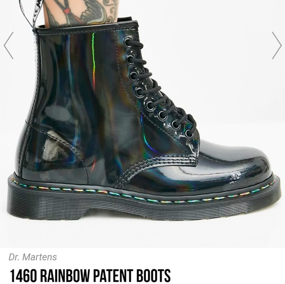 4b4290a778f Dr. Martens Shoes | Dr Martens Rainbow Holographic Boots | Poshmark